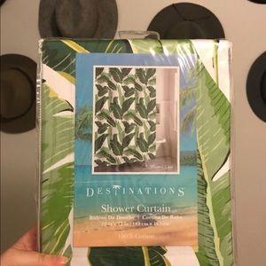Palm Leaf Shower Curtain (unopened)